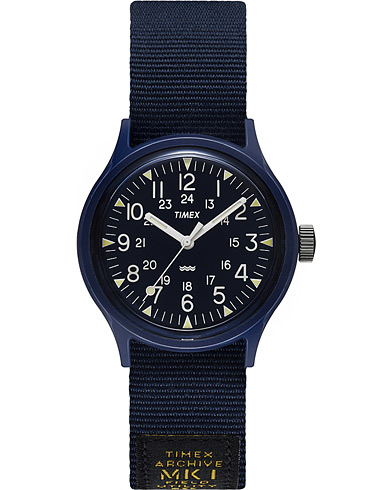 Timex MK1 Camper Resin 36 Military Grossgrain Blue