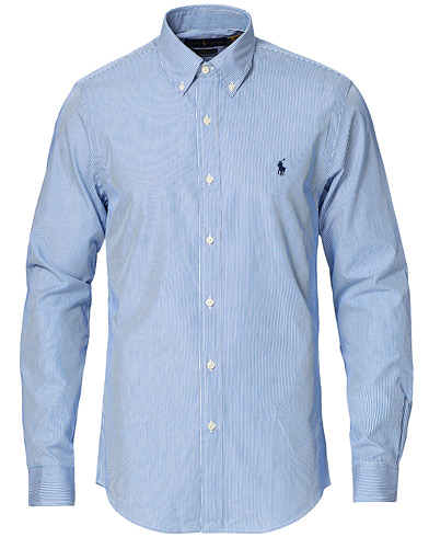 Billede af Polo Ralph Lauren Slim Fit Thin Stripe Poplin Shirt Blue/White