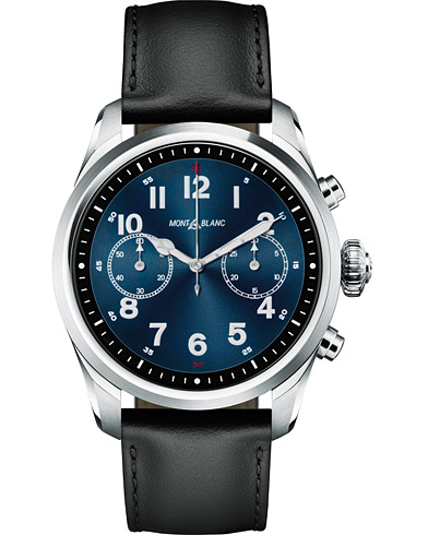 Montblanc Summit2 42mm Smartwatch Steel / Black Calf  i gruppen Tilbehør / Ure hos Care of Carl (15470610)