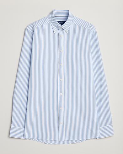 Eton Slim Fit Royal Oxford Stripe Button Down Light Blue
