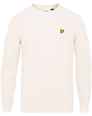 Lyle & Scott Crew Neck Sweatshirt Snow White i gruppen Tøj / Trøjer / Sweatshirts hos Care of Carl (15545511r)