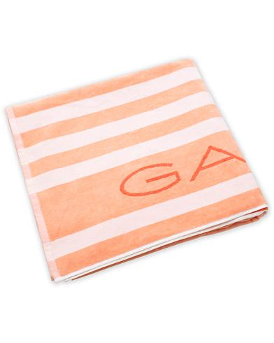 GANT Beach Stripe Towel Orange/White