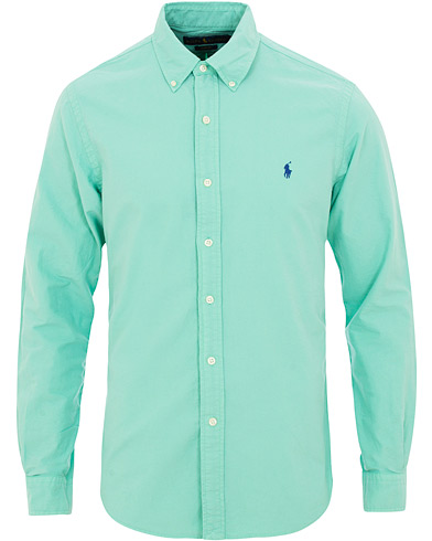 Polo Ralph Lauren Slim Fit Garment Dyed Oxford Shirt Sunset Green i gruppen Tøj / Skjorter / Casual / Oxfordskjorter hos Care of Carl (15594211r)