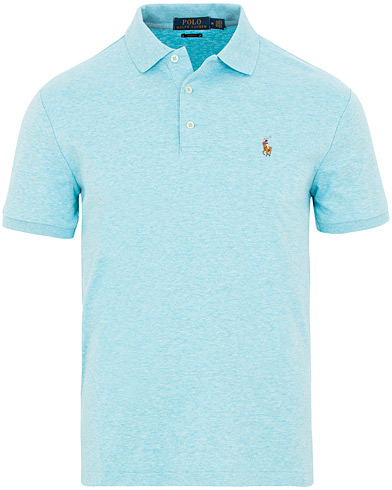 Polo Ralph Lauren Custom Slim Fit Luxury Pima Cotton Polo Blue Heather i gruppen Tøj / Polotrøjer / Kortærmede polotrøjer hos Care of Carl (15604811r)