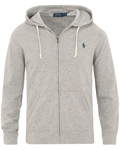 Polo Ralph Lauren Spa Terry Full Zip Hoodie Andover Heather i gruppen Tøj / Trøjer / Hættetrøjer hos Care of Carl (15610911r)