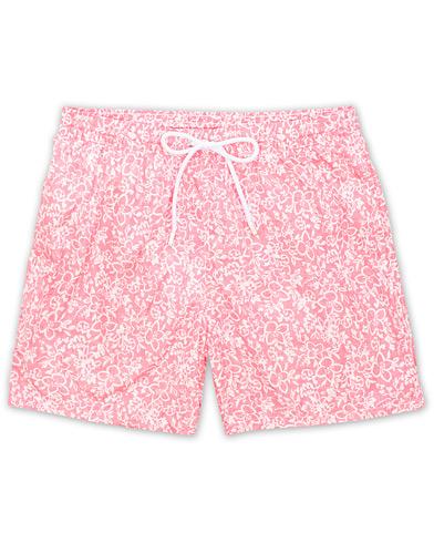 Barba Napoli Floral Print Swim Shorts Rosa