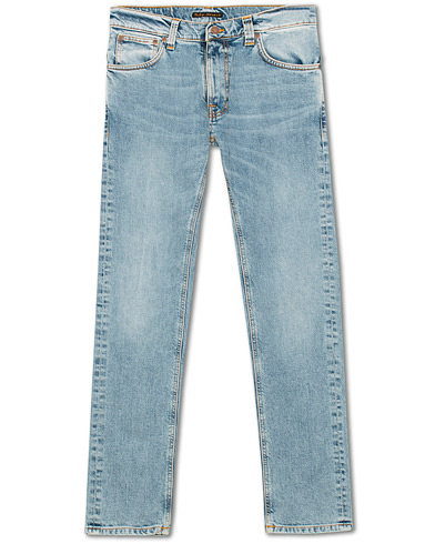 Nudie Jeans Thin Finn Organic Jeans Light Blue Comfort i gruppen Tøj / Jeans hos Care of Carl (15678911r)