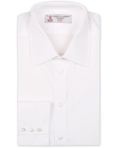 Turnbull & Asser Regular Fit T&A Collar Poplin Shirt White