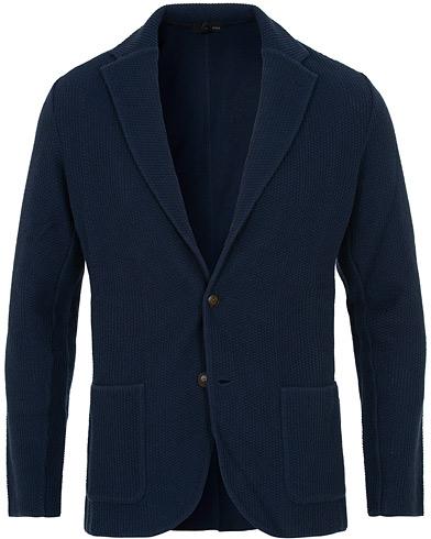 Lardini Knitted Blazer Blue