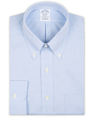 Brooks Brothers Regent Fit Non Iron Pocket Shirt Light Blue