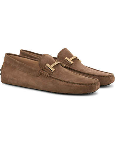 Tod's Gommino Double T Carshoe Brown Suede