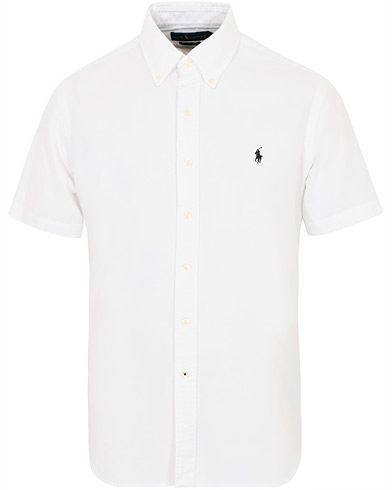 Billede af Polo Ralph Lauren Custom Fit Garment Dyed Oxford Short Sleeve White