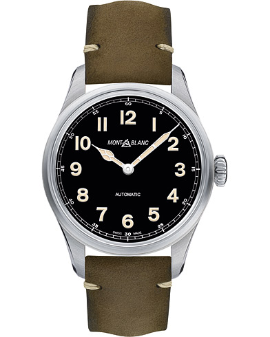 Montblanc 1858 Steel Automatic 40mm Black Dial