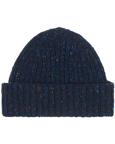 Drake's Merino Wool Donegal Hat Navy