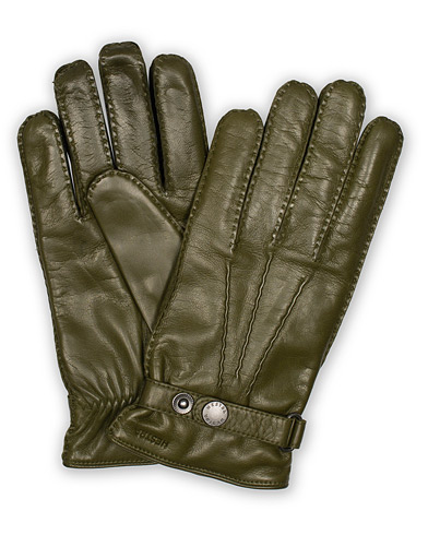 Hestra Jake Wool Lined Buckle Glove Green i gruppen Tilbehør / Handsker hos Care of Carl (16213411r)
