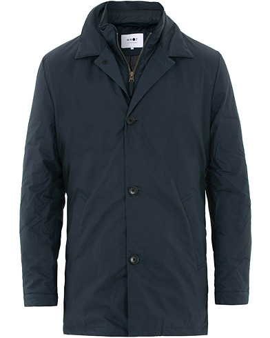 NN07 Blake Wax Jacket Navy Blue i gruppen Tøj / Jakker / Oilskinsjakker hos Care of Carl (16260811r)