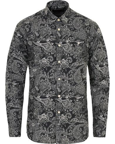 Morris Montaron Printed Paisley Shirt Grey