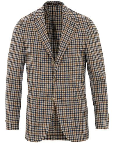 Morris Heritage John Colour Check Wool Blazer Brown