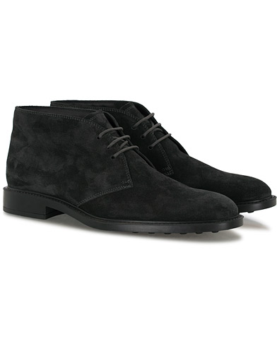 Tod's Desert Boot Dark Grey Suede
