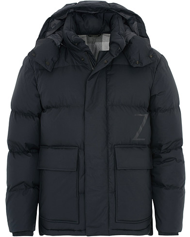 Z Zegna Techno Cotton Ultra Down Jacket Black i gruppen Tøj / Jakker / Dunjakker hos Care of Carl (16439611r)