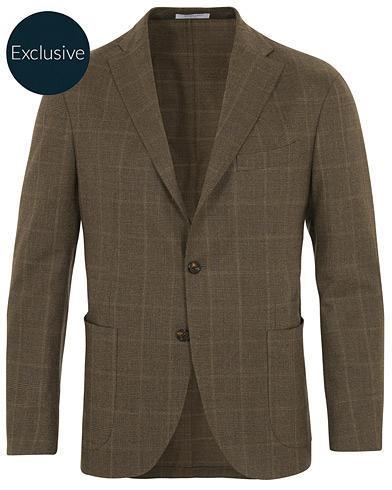 Boglioli K Jacket Checked Blazer Brown