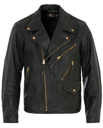 RRL Marshall Leather Jacket Vintage Black