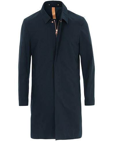 Private White V.C. Unlined Cotton Ventile Mac Coat 3.0 Midnight