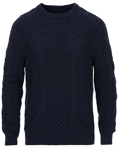 Polo Ralph Lauren Aran Knitted Sweater Hunter Navy