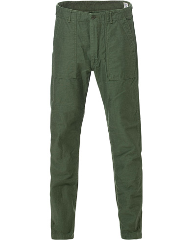 orSlow Slim Fit Original Sateen Fatigue Pants Army Green men 3 - M Sort