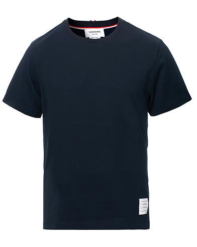 Thom Browne Side Slit Short Sleeve T-Shirt Navy