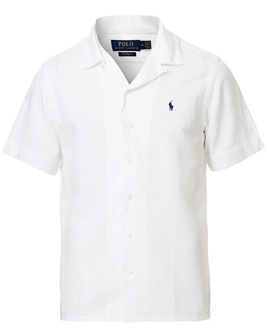 Polo Ralph Lauren Custom Fit Camp Collar Short Sleeve Shirt White