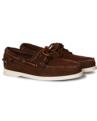 Sebago Docksides Suede Boat Shoe Dark Brown