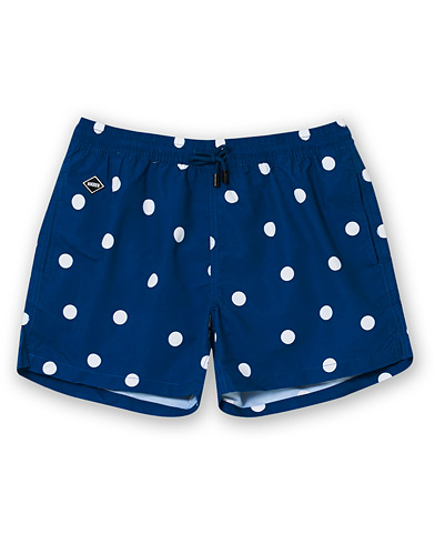 NIKBEN Dot Printed Swim Shorts Denim Blue