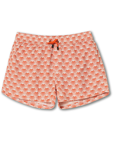 NIKBEN Studio Mr Ripley Swim Shorts Orange/Off White
