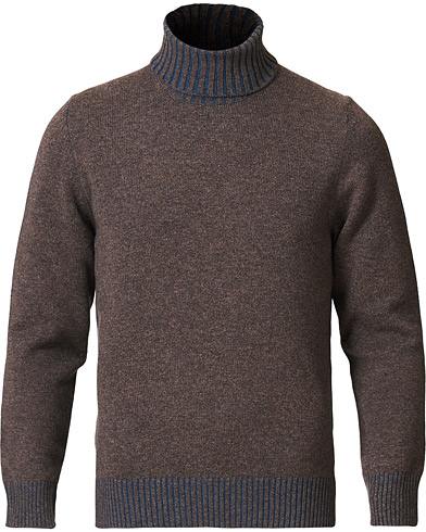 Gran Sasso Wool/Cashmere Rollneck Brown