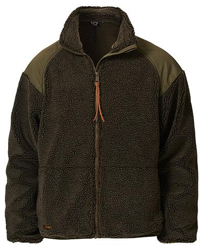 orSlow Panelled Fleece Jacket Military Green