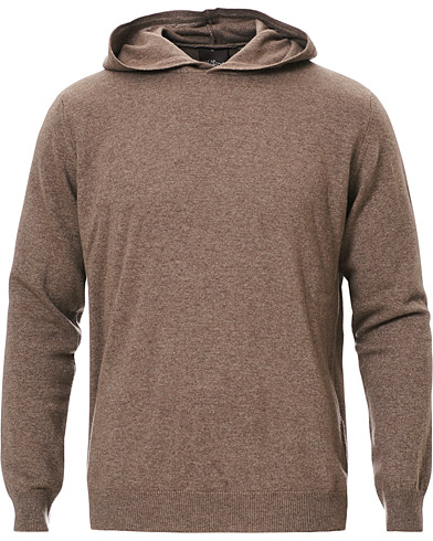 Oscar Jacobson Pascal Wool/Cashmere Hoodie Brown