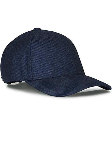 Varsity Loro Piana Cashmere Baseball Cap  Navy