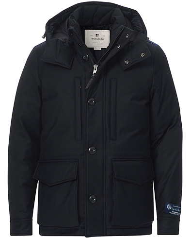 Woolrich Mountain Loro Piana Parka Melton Blue i gruppen Tøj / Jakker / Parkas hos Care of Carl (19698311r)