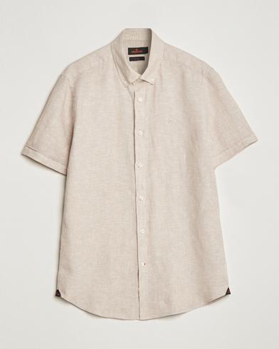 Morris Douglas Linen Short Sleeve Shirt Khaki