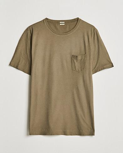 Massimo Alba Panarea Watercolour T-Shirt Military