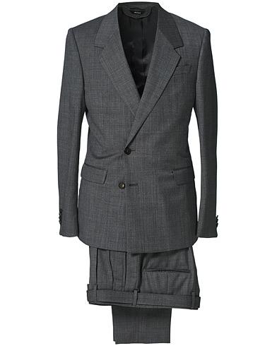 Z Zegna Recycled Wool Suit Dark Grey