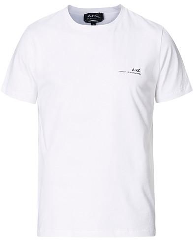 A.P.C. Item Short Sleeve T-Shirt White
