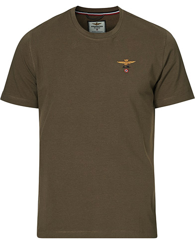 Aeronautica Short Sleeve Tee Verde Militare