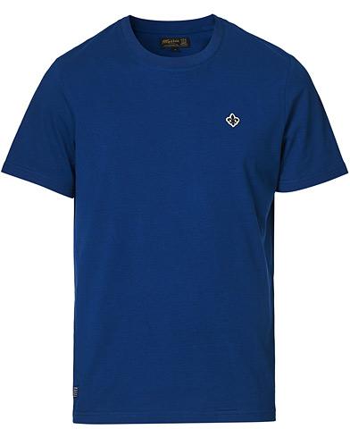 Morris Darell Embroidery Logo Tee Blue