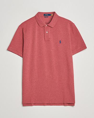 Polo Ralph Lauren Custom Slim Fit Polo Venetian Red Heather