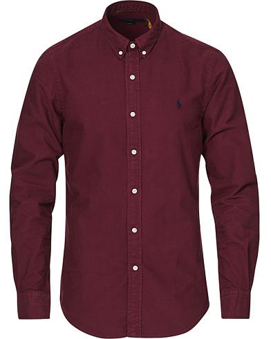 Polo Ralph Lauren Slim Fit Garment Dyed Oxford Shirt Classic Wine