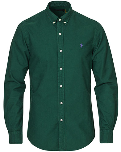 Polo Ralph Lauren Slim Fit Garment Dyed Oxford Shirt New Forest