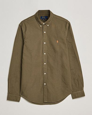 Polo Ralph Lauren Slim Fit Garment Dyed Oxford Shirt Defender Green