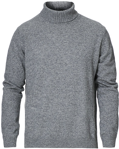 Oscar Jacobson Salim Wool/Cashmere Rollneck Light Grey